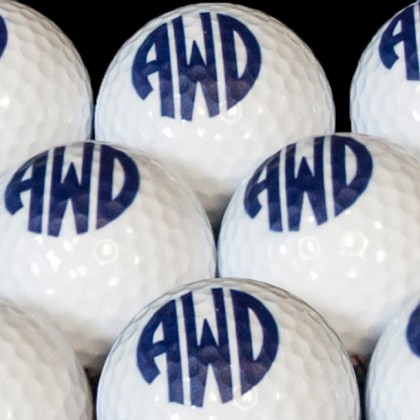 Personalized Blank Golf Balls - Design