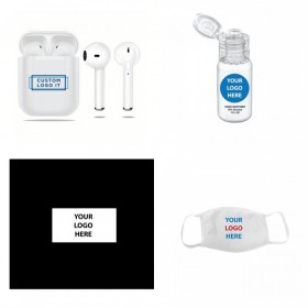 Elite Sound Earbuds and Safety Corporate Swag Box