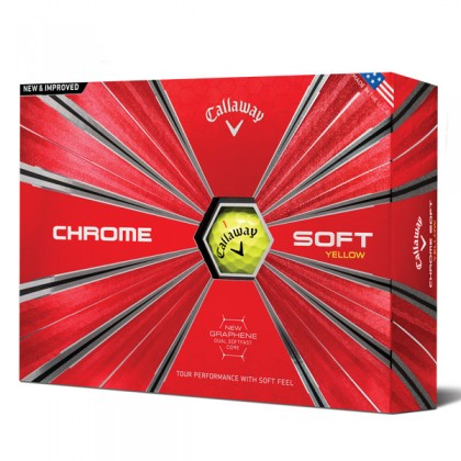 Yellow Callaway Chrome Soft Dozen Golf Balls