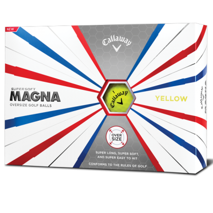 Yellow Callaway Supersoft Magna Golf Balls - Dozen