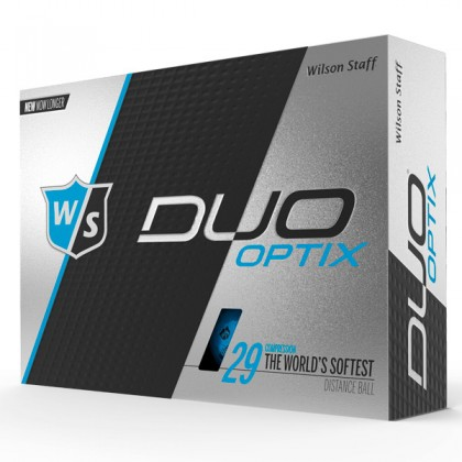 Blue Wilson Duo Optix Logo Golf Balls / Dozen